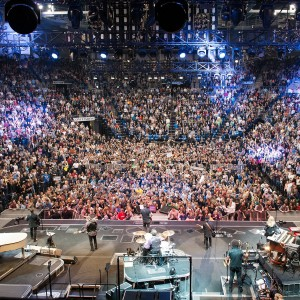 Picture of sold out crowd from behind the stage at Chaifetz Arena during the Bruce Springsteen concert in 2016